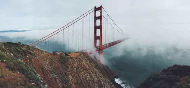 bridge california cliff golden gate bridge