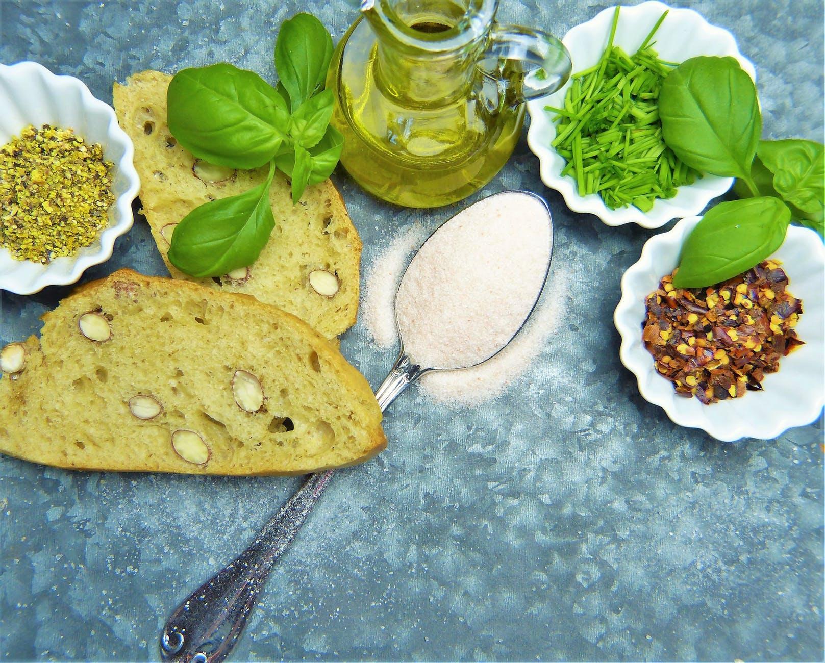 baked basil bio bread