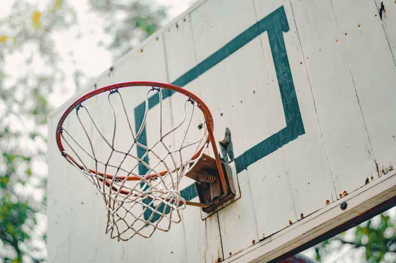 red basketball rim