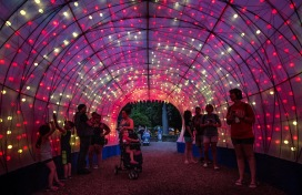 Asian Lantern Festival on June 27, 2019 at the Cleveland Metroparks Zoo. (Kyle Lanzer/Cleveland Metroparks)