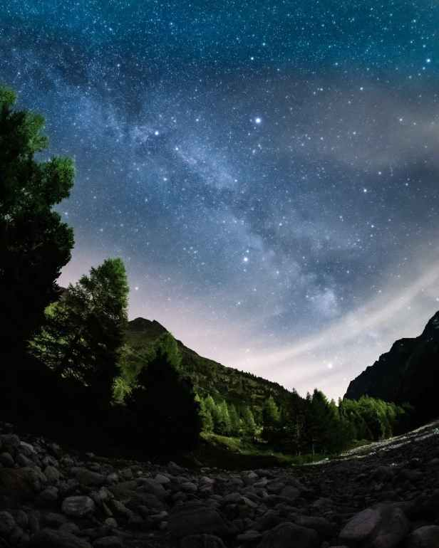 scenic photo of starry night sky