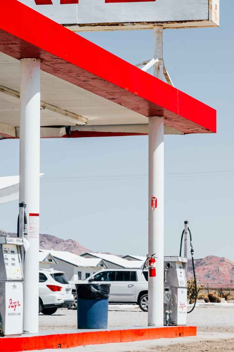 photo of gasoline station