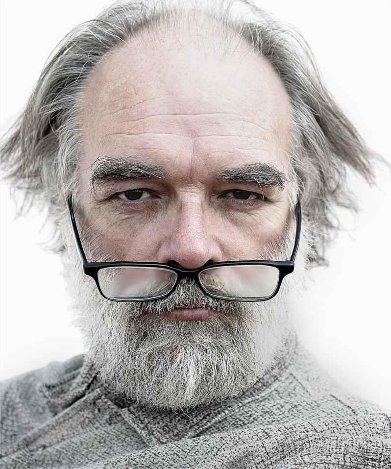 man portrait old artist