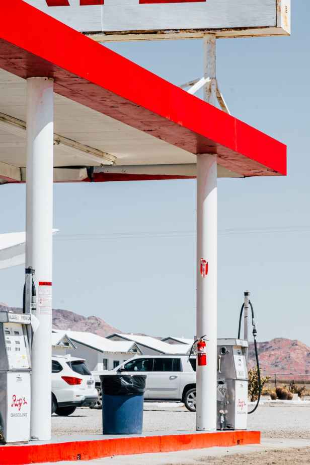 photo of gasoline station