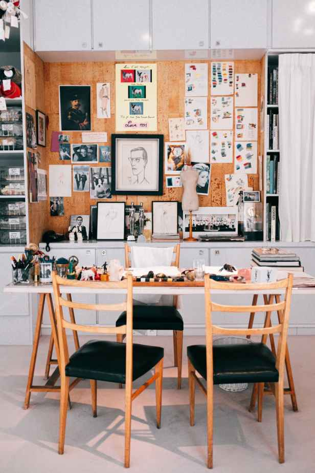 photos on wall